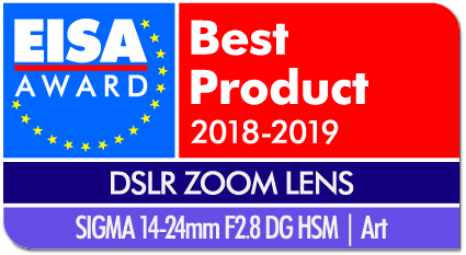EISA Award Logo SIGMA 14-24mm F2.8 DG HSM Art dropshadow